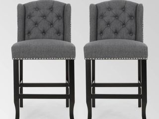 Foxcroft Wingback Counter Stool  Set of 2  by Christopher Knight Home Retail 279 99