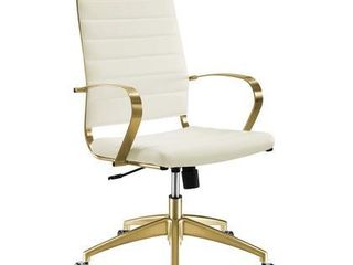 Modway Jive Gold Stainless Steel Highback Office Chair Gold White