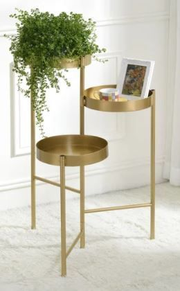 Furniture of America Caleb Modern Gold 3 tier Indoor Plant Stand  Retail 236 99