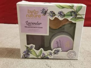 By Nature Bath Soak Set lavender   Shea Butter