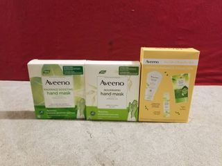 3 SETS OF AVEENO GIFT SETS