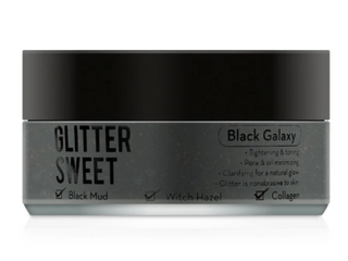 Glitter Sweet  Glitter Mask  Black Galaxy
