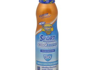 Banana Boat Sport CoolZone Clear Sunscreen Spray SPF 30  6 Oz