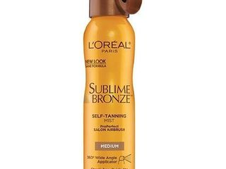 l Oreal Paris Sublime Bronze Self Tanning Mist  Medium  4 6 oz