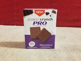 Power Crunch Pro Protein Energy Bars  20 Protein  Triple Chocolate