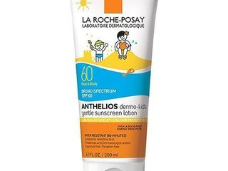 la Roche Posay laboratoire Dermatologique Anthelios Dermo Kids Gentle Face and Body Broad Spectrum SPF 60 Sunscreen Water Resistant 80 Minutes   lOTION
