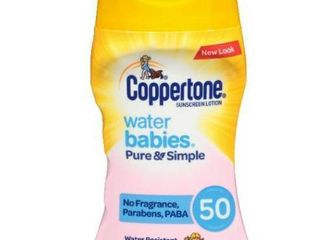 Coppertone Sunscree lotion 6 oz Water Babies