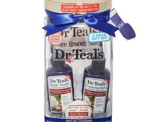 Dr Teal s 5 Piece Moisturizing Shea Butter and Almond Oil Bath Gift Set