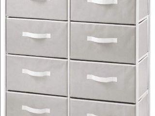 Vertical Dresser Storage Tower 8 Fabric Drawers