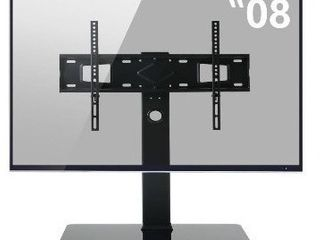 Rfiver Desktop Television Stand with Mount for TVs up to 80  Perfect for Flat Screens or Curved Screens large TV