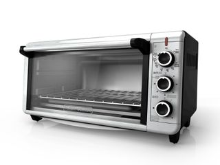 Black   Decker 8 Slice Extra Wide Convection Toaster Oven