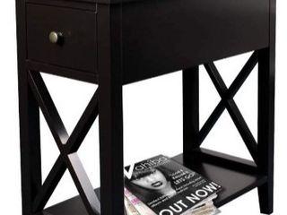 ChooChoo Flip Top Open End Table  Narrow Side Table Slim End Table for living Room Bedroom
