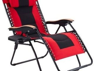 Vicllax Oversize Padded Zero Gravity Chair Patio lounge Chair with Cup Holder for Outdoor Beach Pool