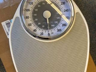 Instatrack large Dial Metal Analog Bathroom Scale With Silver Mat a Accurate