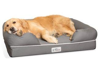 PetFusion PetFusion Ultimate Memory Foam lounger Dog Bed  large  36 x28 x9  Pet Dog Bed  large  Gray