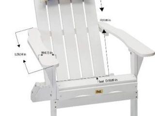 DJl White Folding Adirondack Chair