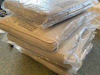 Set of 6 grey seat cushions