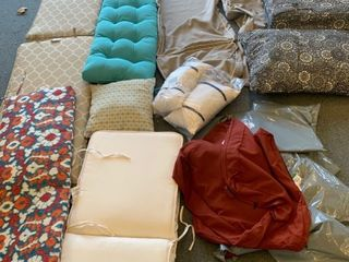 Misc  cushions and seat covers lot