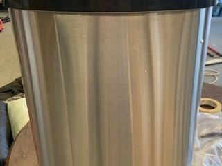 iTouchless 13 Gallon SensorCan Stainless Steel Oval Touchless Trash Can with Odor Control System
