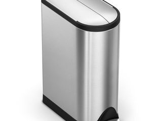 Simplehuman Rubbish Butterfly lid Stainless Steel Matte 18 l Novelty