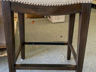 Stone   Beam Elden Nailhead Saddle Kitchen Counter Backless Bar Stool  26 Inch H