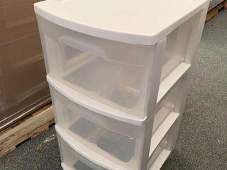 White plastic drawer set