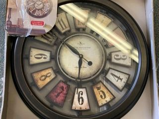 FirstTime   Co  Numeral Plaques Wall Clock