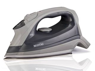 Maytag Speed Heat Steam Iron   Vertical Steamer with Stainless Steel Sole Plate  Self Cleaning Function   Thermostat Dial  M200 Grey