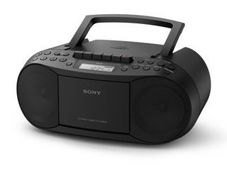 Sony Stereo CD Cassette Boombox Home Audio Radio  Black  CFDS70BlK