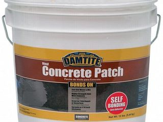 Damtite 04012 Gray Bonds On Vinyl Concrete Patch  12 lb  Pail