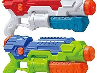 JOYIN 2 Pack Super Water Blaster Shoot Up to 36 Feet High Capacity Water Soaker Blaster Squirt Toy Water Gun Swimming Pool Beach Sand Water Fighting Toy
