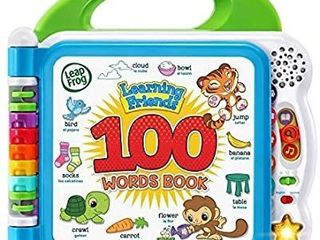 leapFrog learning Friends 100 Words Book  Green  9 4  Wide x 9 4  Height x 1 9  Depth
