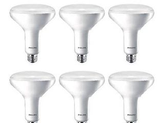 Philips lED Dimmable BR40 Soft White light Bulb with Warm Glow Effect  2700 2200 Kelvin  9 Watt  65 Watt Equivalent  E26 Base  Frosted  6 Pack