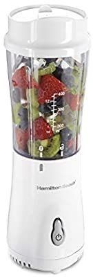 Hamilton Beach Personal Blender for Shakes and Smoothies with 14oz Travel Cup and lid  White  51101V