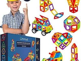 limmys Magnetic Building Blocks a Unique Travel Series Construction Toys for Boys and Girls a STEM Educational Toy a Includes 74 Pieces and an Idea Book