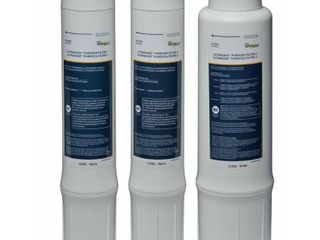 Whirlpool WHEMBF Purifier Water Fits WHAMBS5   WHEMB40 Filtration Systems   Extra long life   Easy to Replace UltraEase Filter Cartridges   1 Set  Single Unit  White