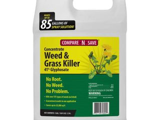 Compare N Save 016869 Concentrate Grass and Weed Killer  41 Percent Glyphosate  1 Gallon   White