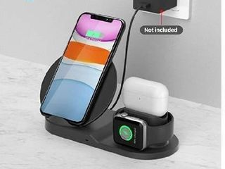 Wireless Charger Station  3 in 1 Fast Charger for Apple Watch Series 5 4 3 2 1 Airpods  Wireless Charger for iPhone 11 11pro 11pro Max X XS XR XS Max 8 8 Plus and Other Qi Phone Adapter Not Included