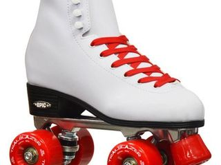 Epic Skates Classic High Top Quad Roller Skates with Red Wheels  ladies 4