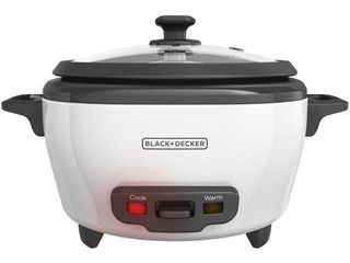 BlACK DECKER RC506 6 Cup Cooked 3 Cup Uncooked Rice Cooker and Food Steamer  White