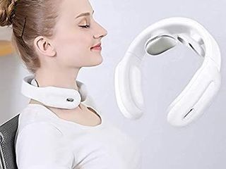 Neck Massager Intelligent Wireless Portable 4D Neck Massage Equipment Deep Tissue Massage Trigger Point for Office  Home  Sport Travel  Feeke X7 pro