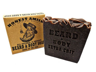 Honest Amish Beard and Body Soap  Extra Grit
