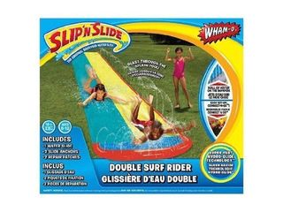 Wham O Slip  N Slide Surf Rider Double Sliding lanes 16ft   color may vary