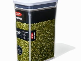 OXO NEW Good Grips POP Container   Airtight Food Storage   2 7 Qt for Rice and More Transparent