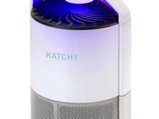 KATCHY Indoor Insect Trap  Bug  Fruit Fly  Gnat  Mosquito Killer   UV light  Fan  Sticky Glue Boards Trap Even The Tiniest Flying Bugs   No Zapper    White