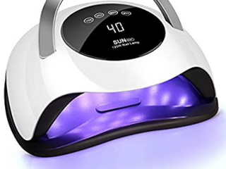 120W UV lED Nail lamp  Easkep Faster Nail Dryer for Gel Polish with 4 Timer Setting Professional Gel lamp Portable Handle Curing lamp for Fingernail and Toenail Auto Sensor Nail Machine  2020 NEWEST