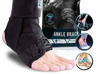 Zenith Ankle Brace  lace Up Adjustable Support a for Running  Basketball  Injury Recovery  Sprain  Ankle Wrap for Men  Women  and Children