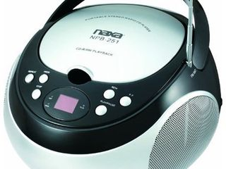 NAXA Electronics NPB 251BK Portable CD Player with AM FM Stereo Radio Black