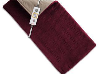 Sunbeam 002013 511 000 Xpressheat Heating Pad  Burgundy  12 x 24 inches