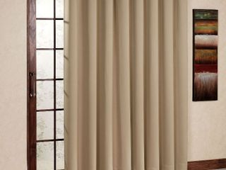 H VERSAIlTEX Thermal Insulated tan Curtains 108 inches long for Patio Glass Door  Winow Treatment Extra long Panels Drapes  Grommet 2 Panels  Tan